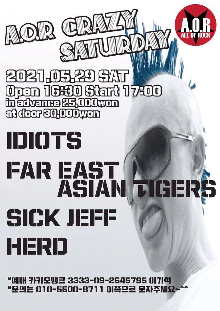 A.O.R CRAZY SATURDAY Live poster