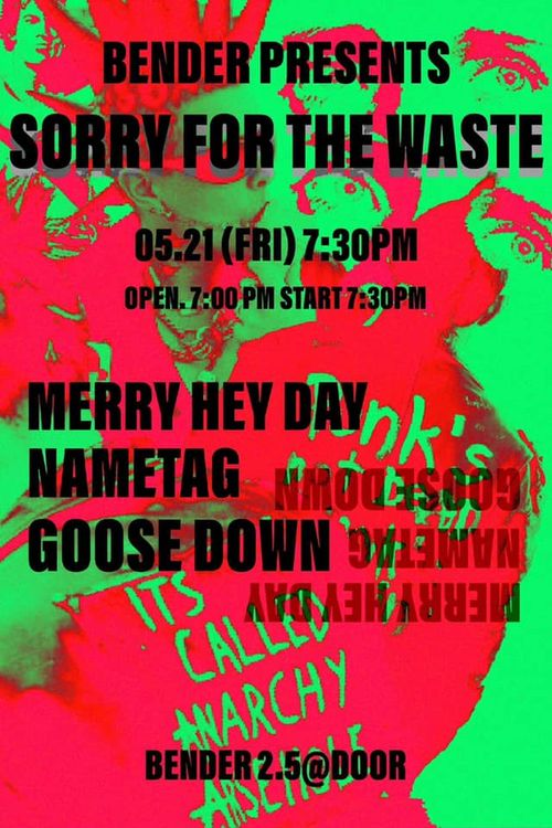 SORRY FOR THE WASTE Live poster